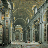 Crop 200 giovanni paolo panini   interior of st. peter s  rome