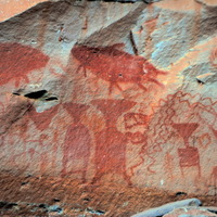 Crop 200 rock paintings at pha taem national park