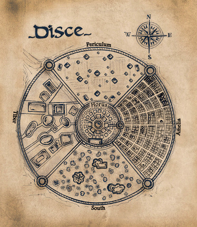 Color map of disce