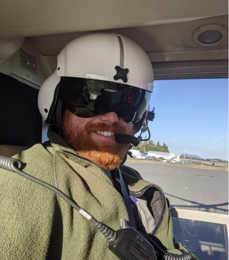 Doug prepares for the flight up to OSD.