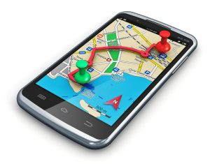 Phone with GPS tracking