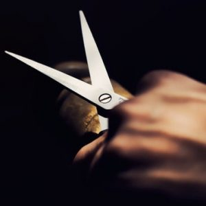 hand cutting scissors