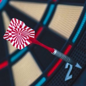 red dart on dart board