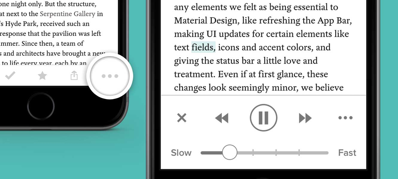 Text-to-speech for iOS is now available! Listen to your articles in Pocket