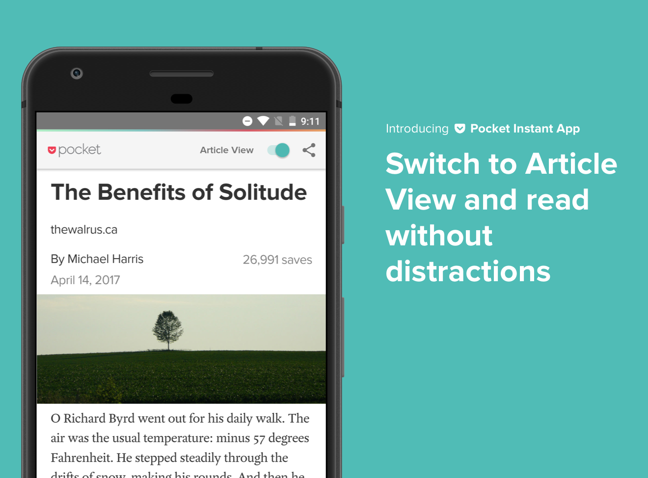 Pocket Instant App - Article View