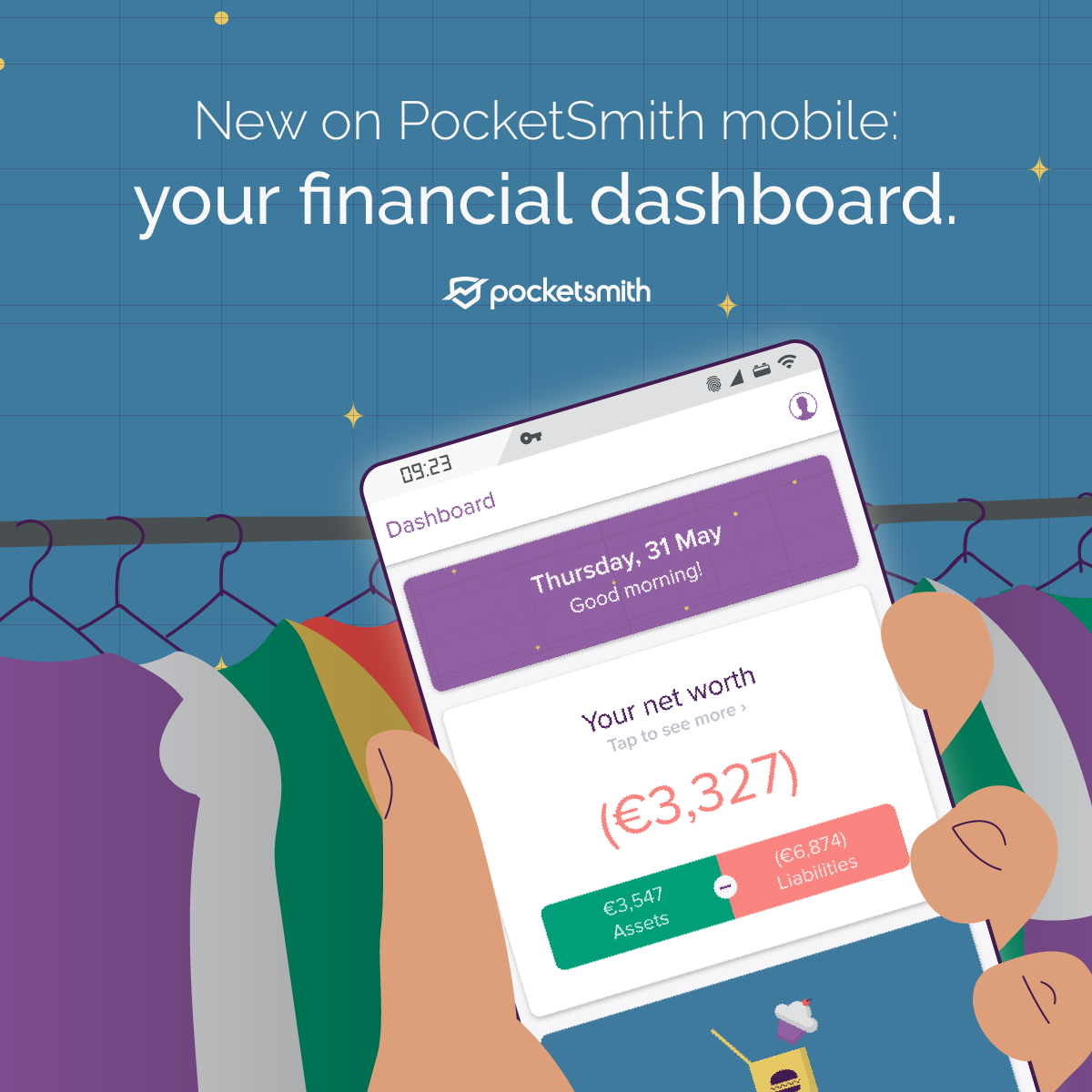 New PocketSmith mobile dashboard released