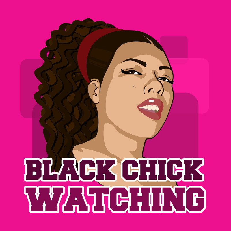 Podknife - Black Chick Watching by Amber P  Knight
