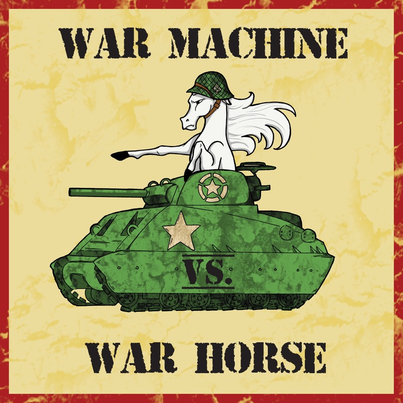 Podknife - War Machine vs  War Horse by Michael Denniston