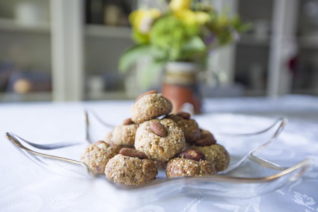 Millet, almond & cashew cookies