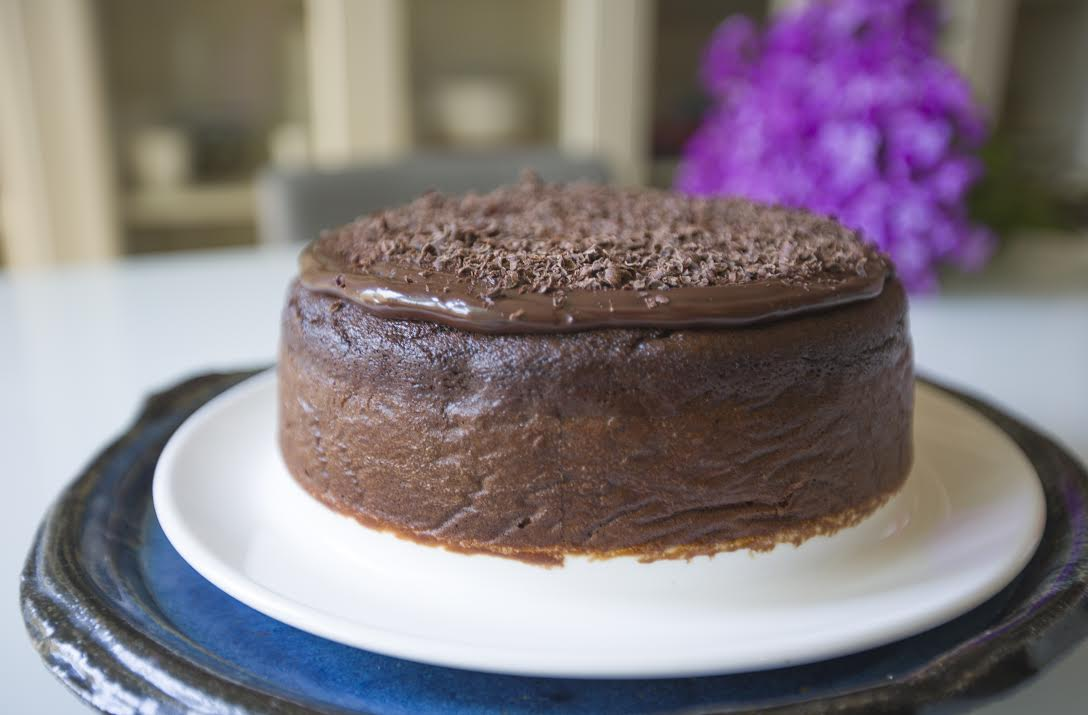 Olive oil chocolate and almond cake
