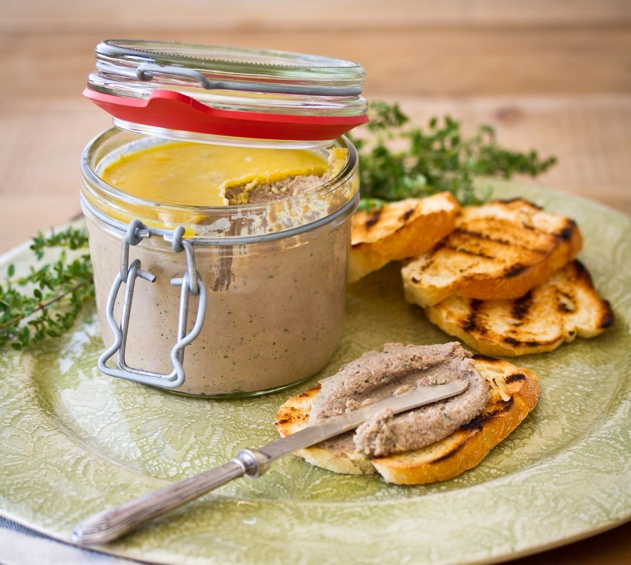 Beef Liver Pâté with Kaiserfleisch, Rosemary & Thyme