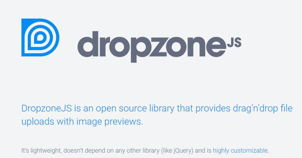 Dropzone.js Bootstrap Configuration Demo