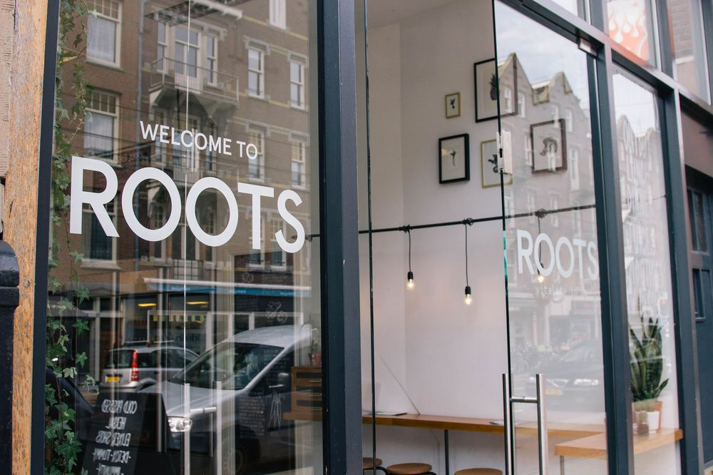 Roots - All organic -  juices, gluten free friendly lunch options; vegan