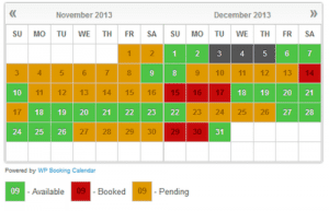 Basic Booking Calendar