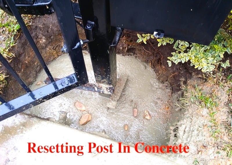 Resetting Post in Concrete