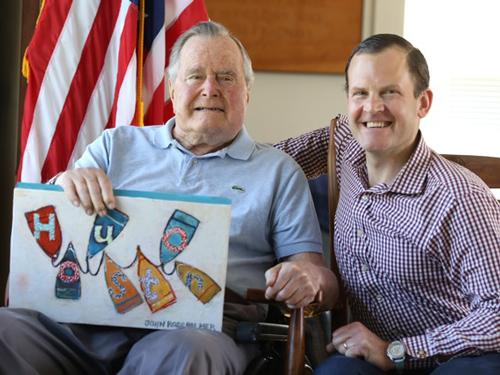 President George H.W. Bush and artist John Ross Palmer