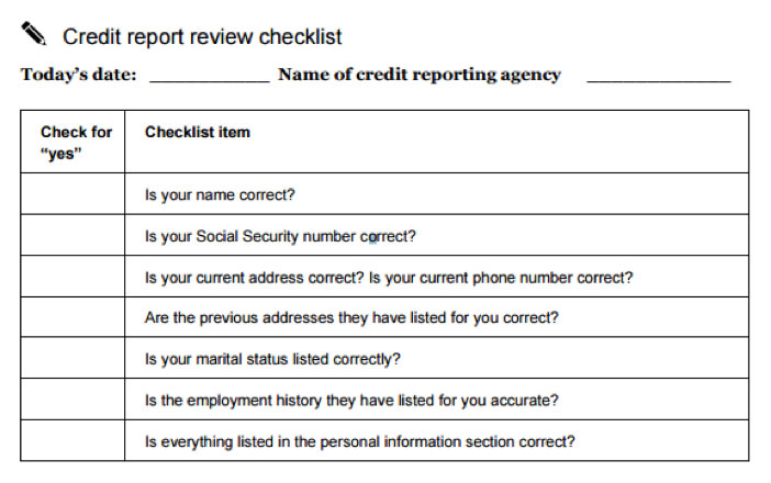 Review a credit report