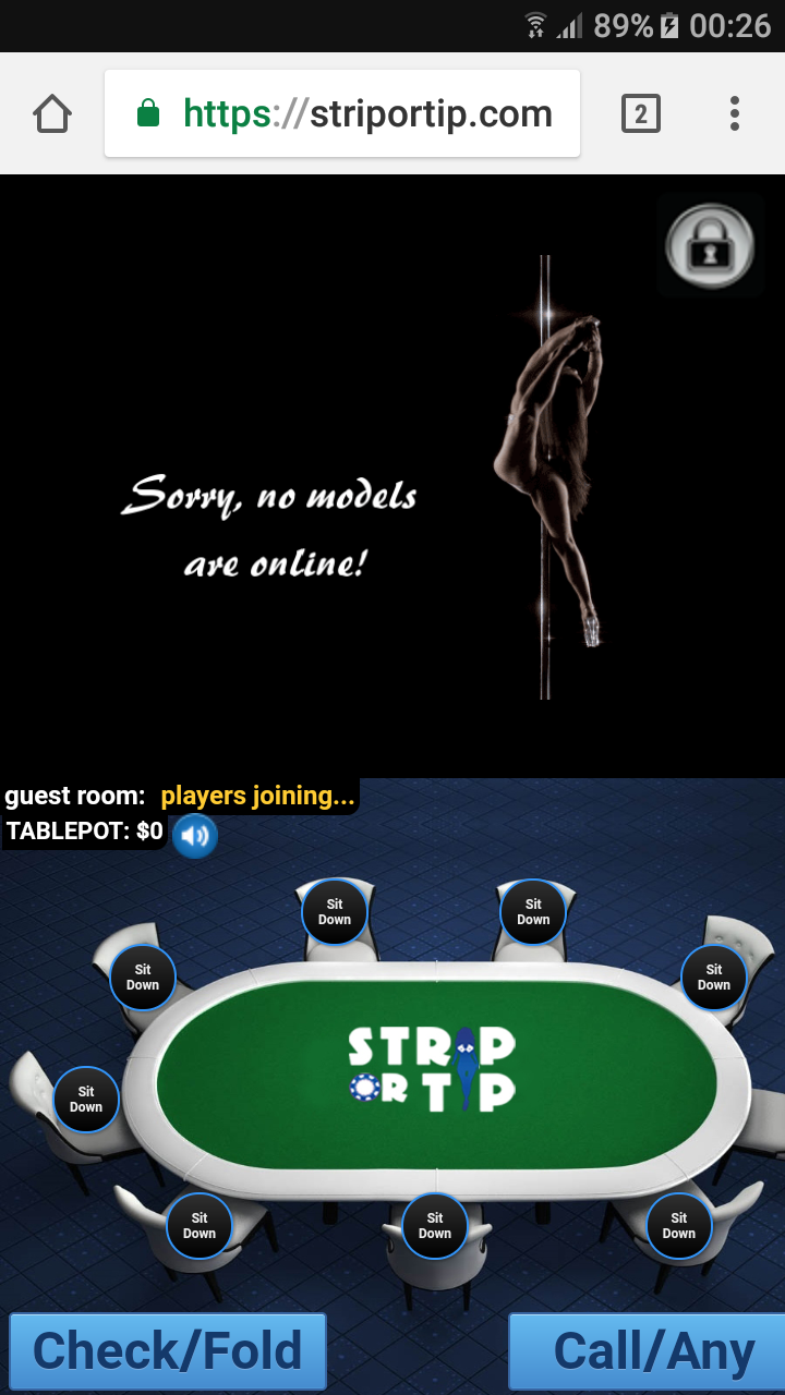 Strip Or Tip. Online Strip Poker