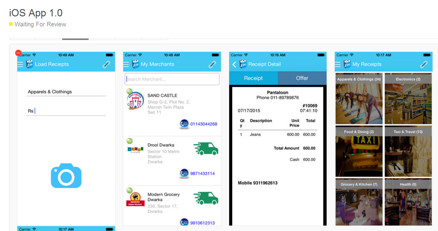 InReceipts Iphone App