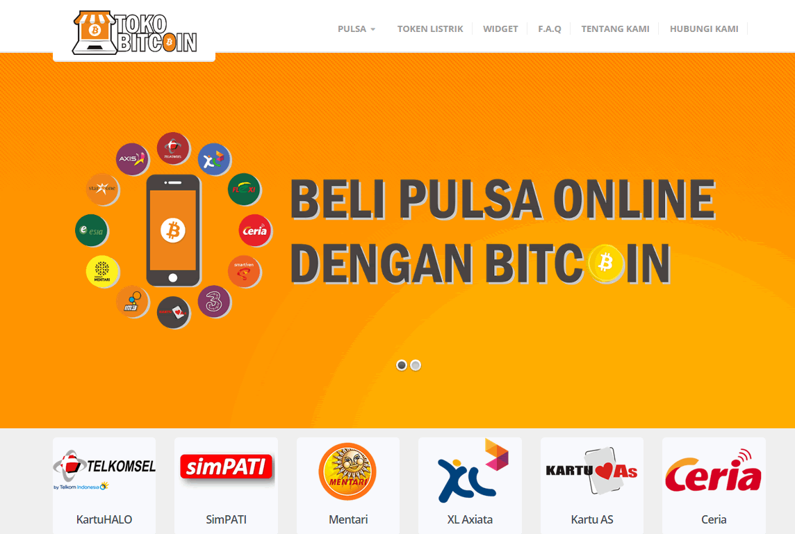 TokoBitcoin - Top Up Indonesia Prepaid Mobile Phones and