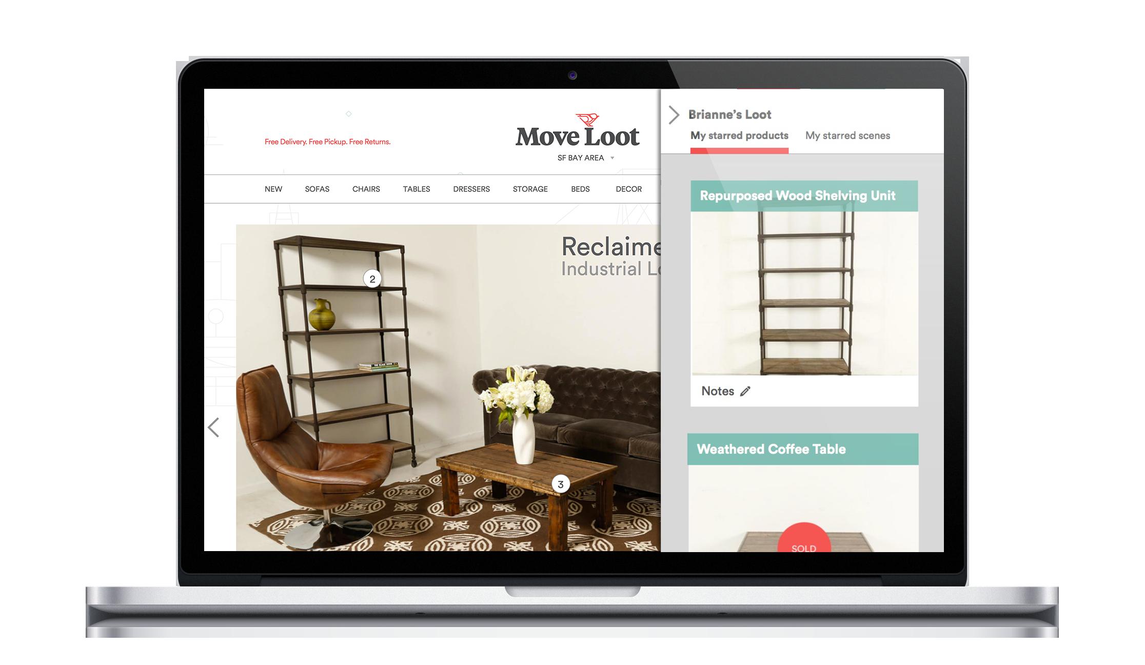MOVE LOOT I E-Commerce Furniture I 2.5 week client project - AngelList