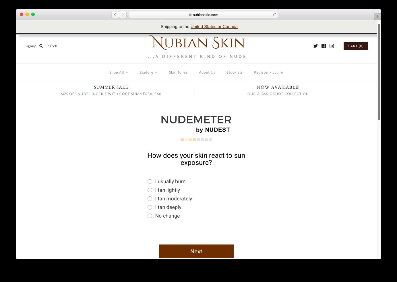 NUDEMETER at NubianSkin.com