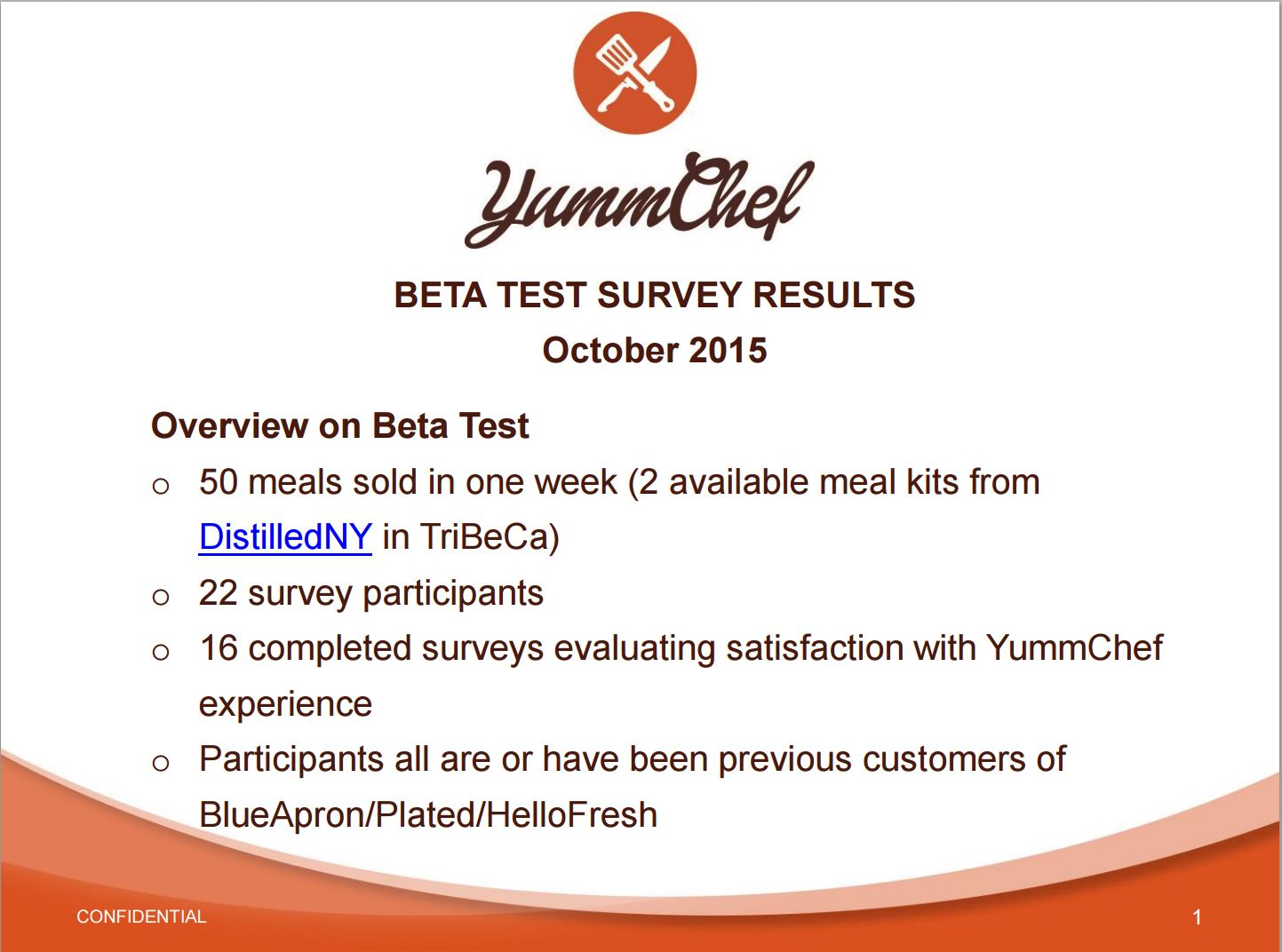 Blue apron beta - Satisfaction Result Beta Test
