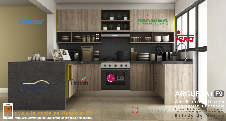 Dise o fabricaci n de mobiliario y cubiertas para cocinas for Disenos cocinas integrales