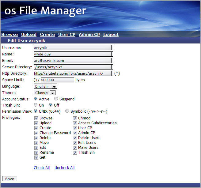 OS FIle Manager