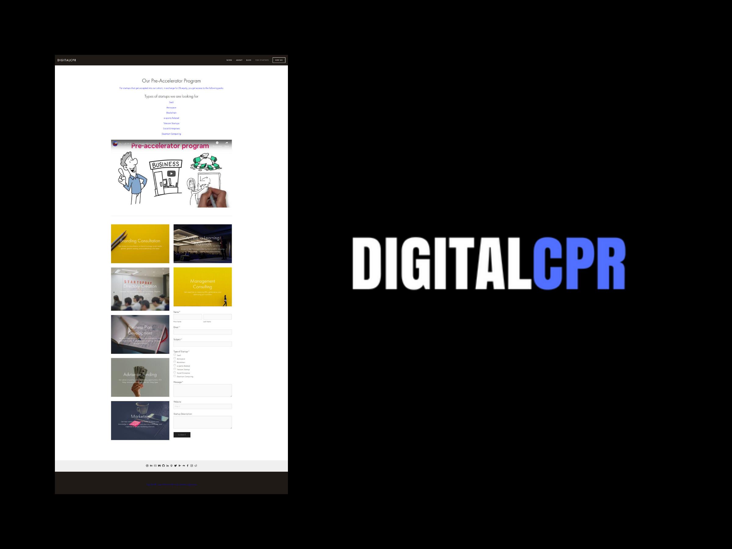 For Startups - DigitalCPR