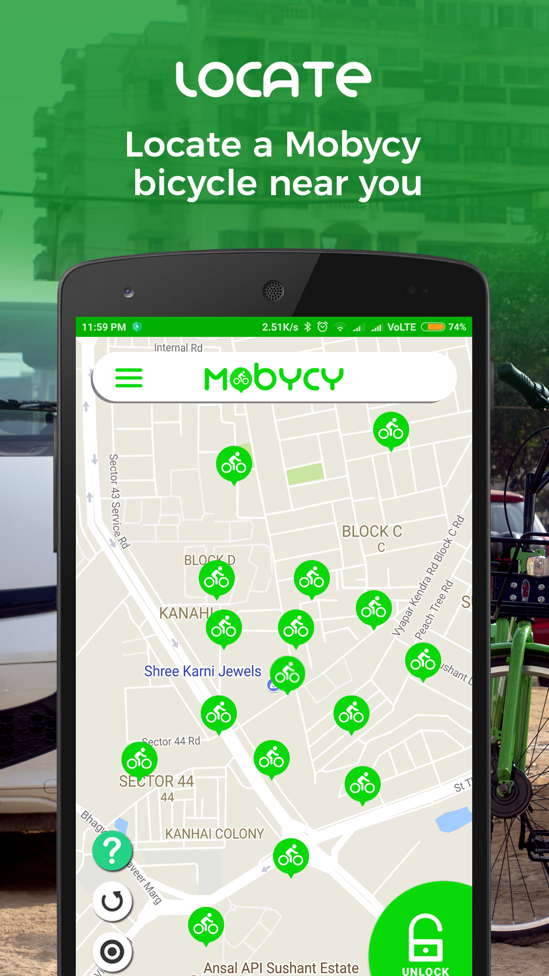 Mobycy Escooter Sharing App
