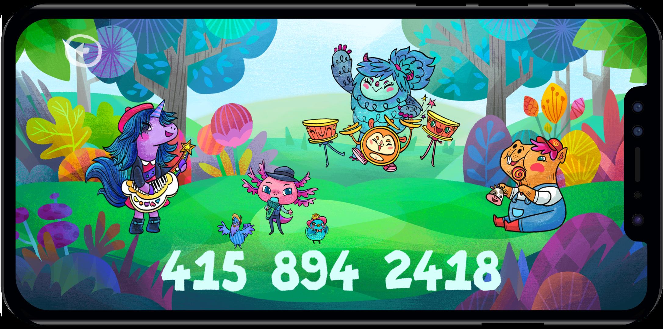 Teach phone number to kids