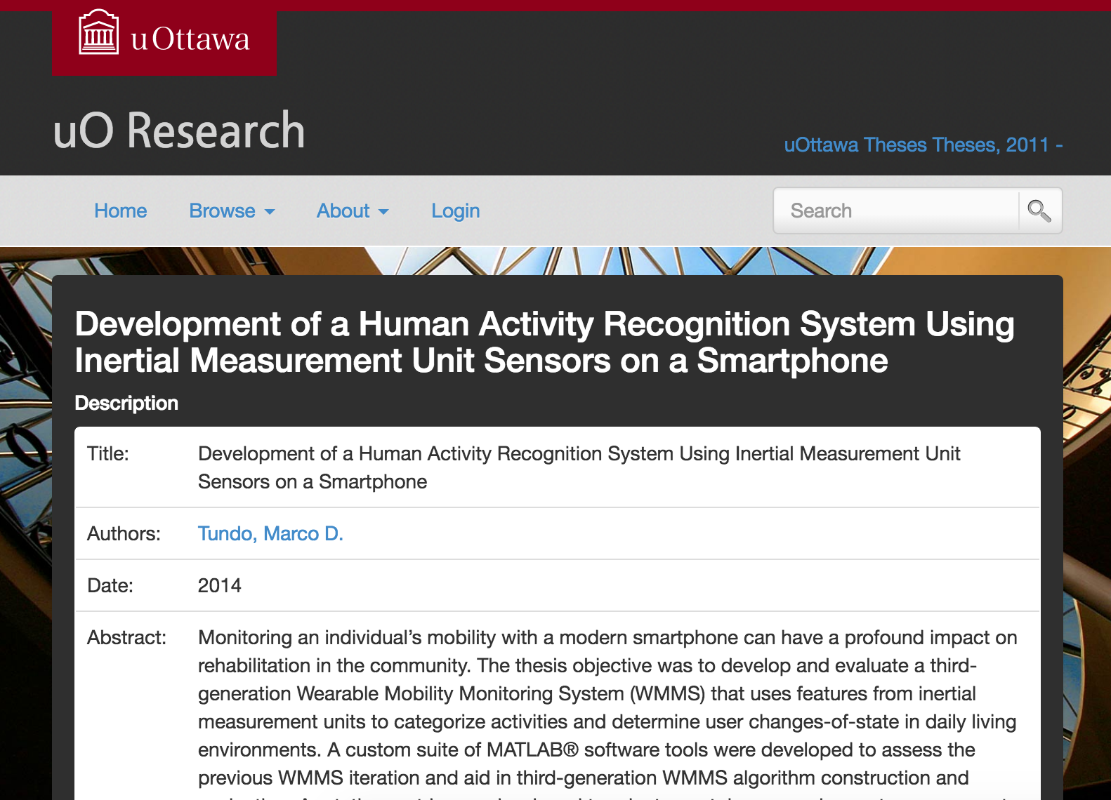 Development of a human activity recognition system using inertial measurement unit sensors on a smartphone
