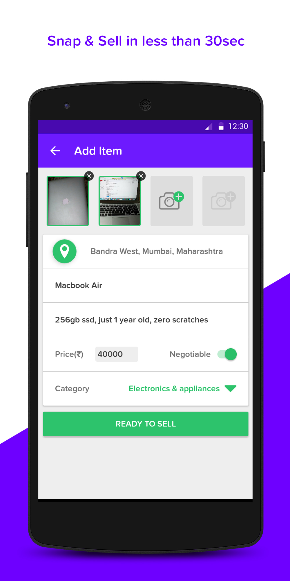 ListUp - Buy & Sell Used Stuff (Android App) | AngelList