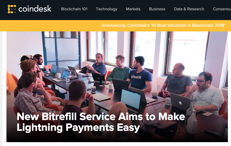 New Bitrefill Service Aims to Make Lightning Payments Easy - CoinDesk