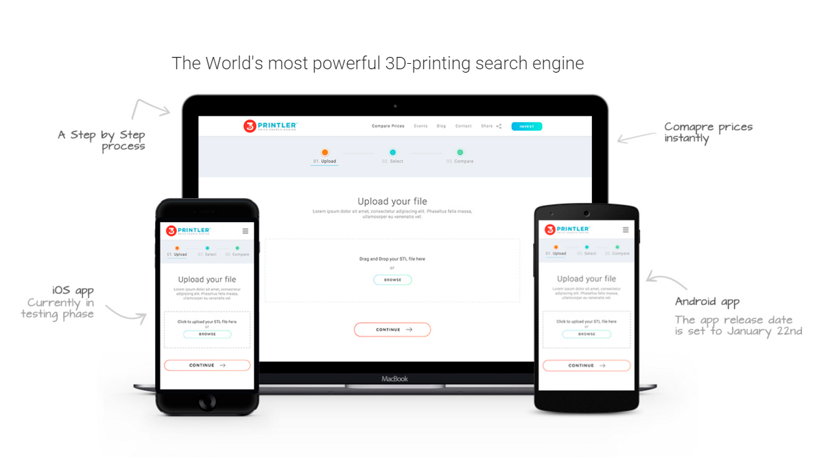 3d printing price comparison search engine angellist for 3d search engine
