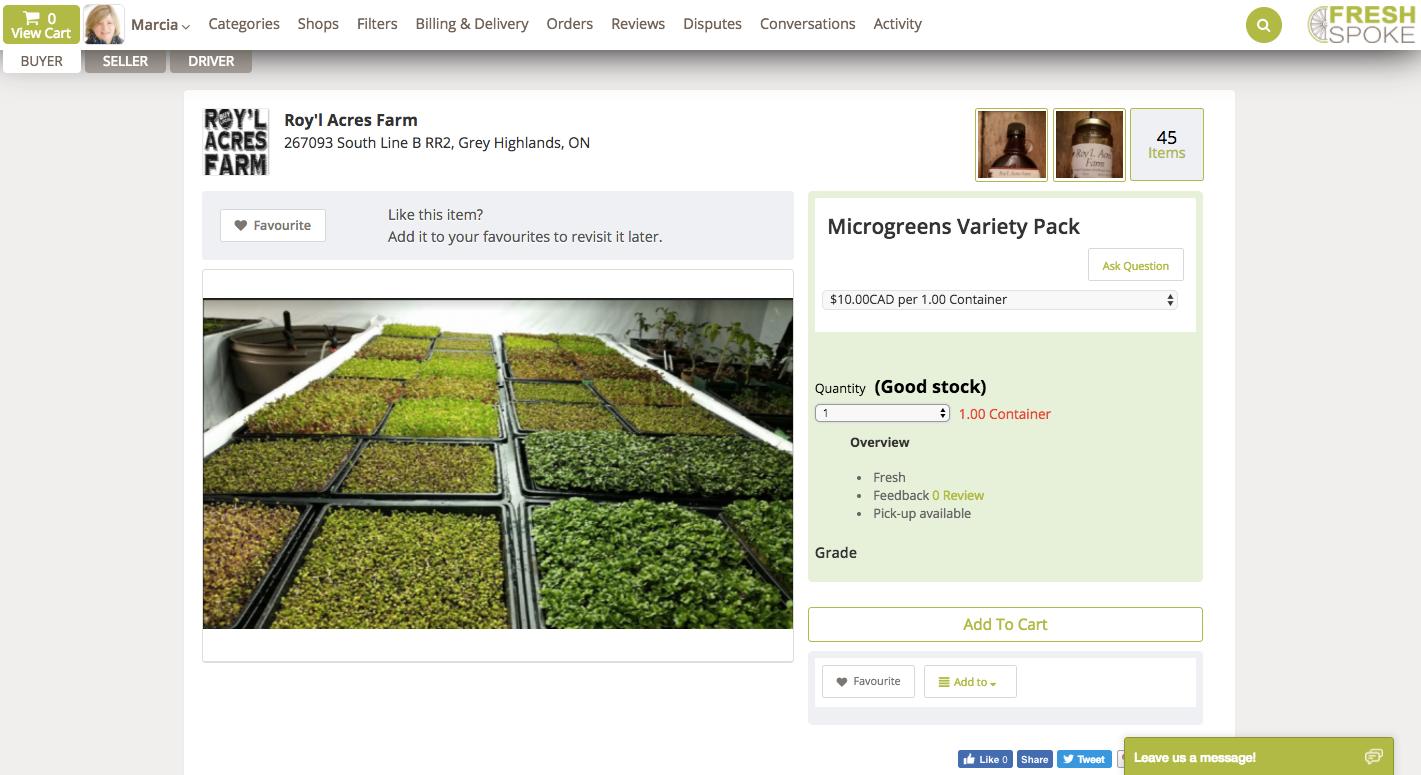 FreshSpoke - the wholesale local food distribution app