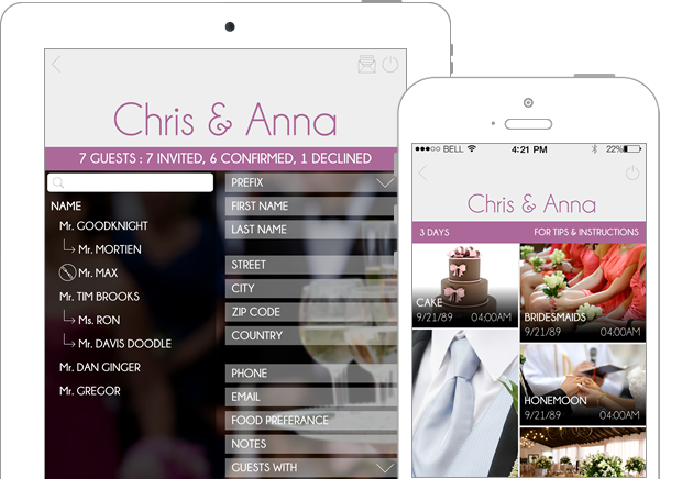 Wedding Planner App.Mr Mrs Wedding Planner An Event Management Ios App Design Angellist