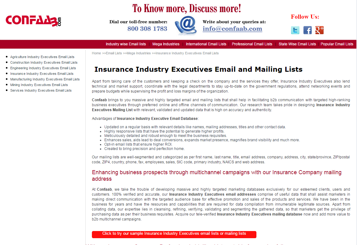 Insurance Company Executives Email List Database | AngelList