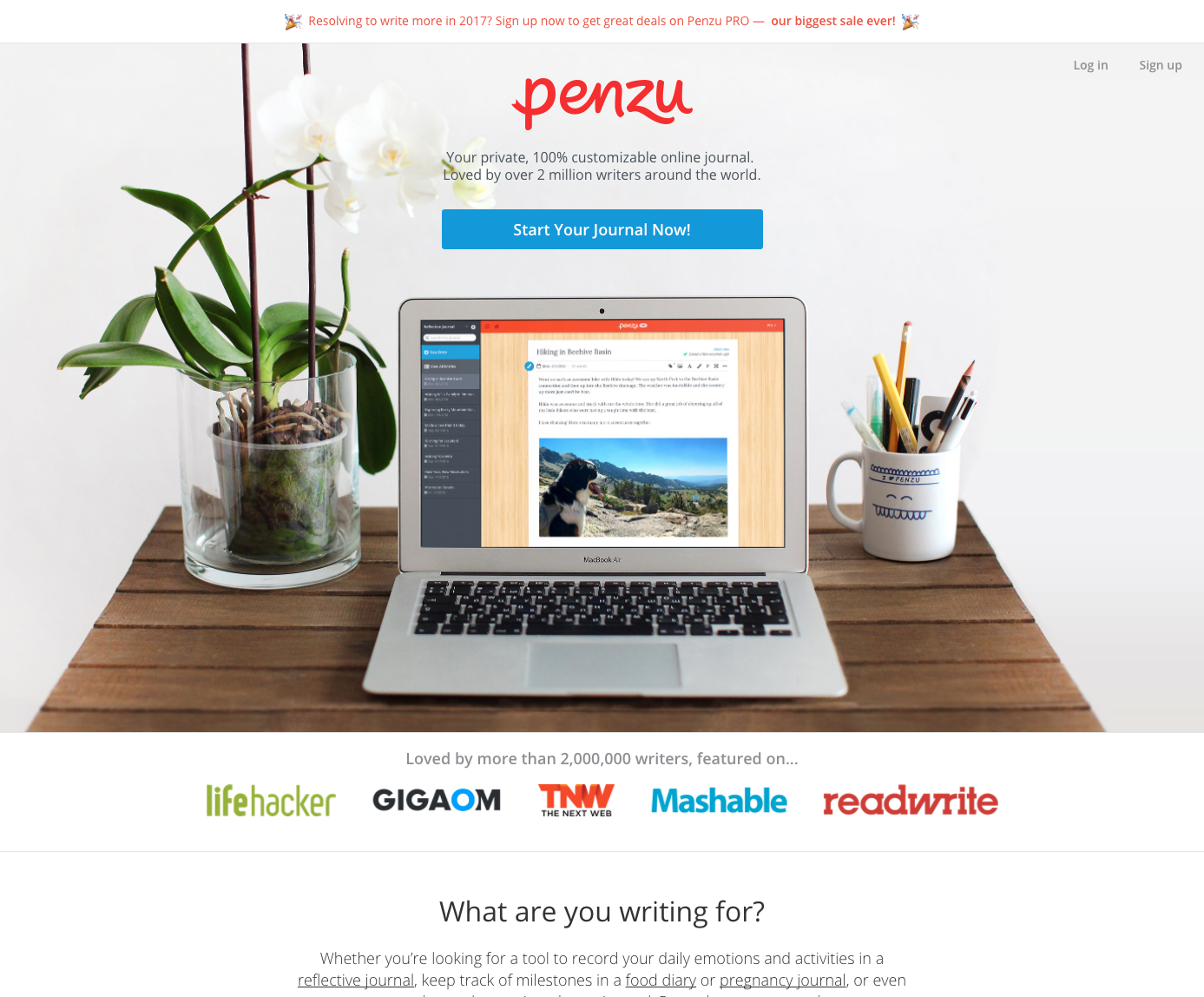 Penzu (Web, iOS, and Android apps)   AngelList