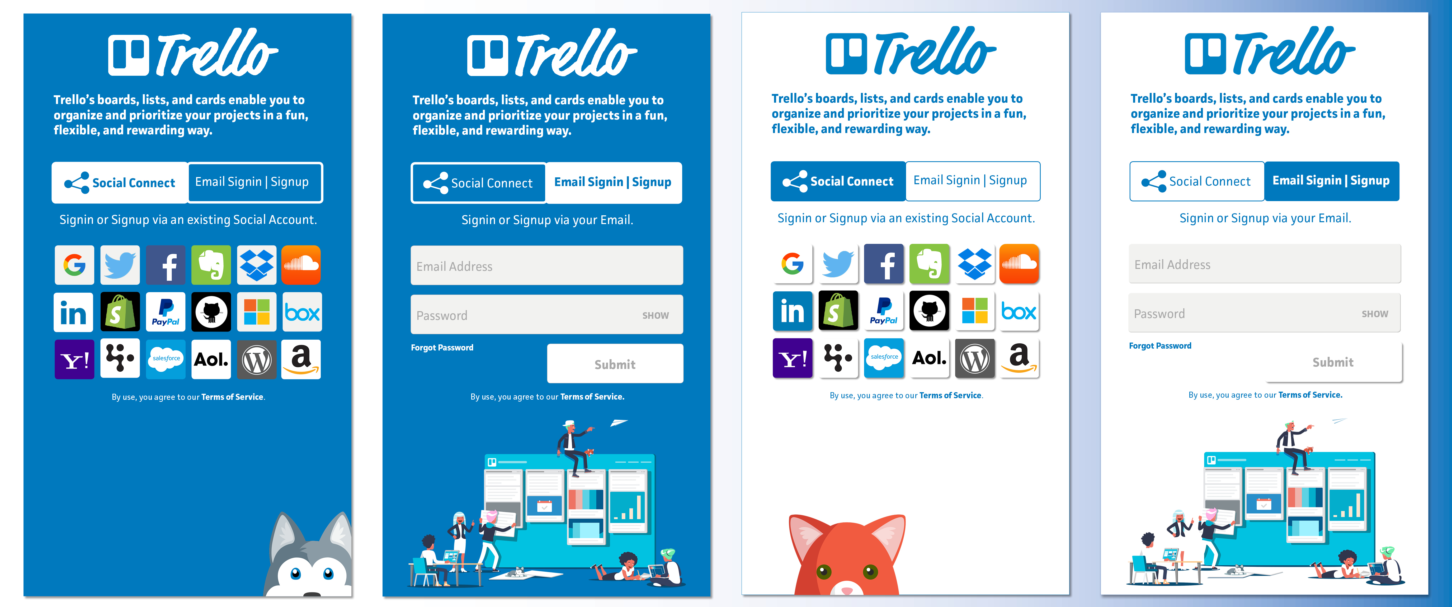 Trello Login Screens | AngelList