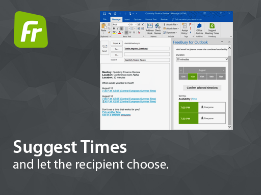 FreeBusy Scheduling Assistant for Outlook