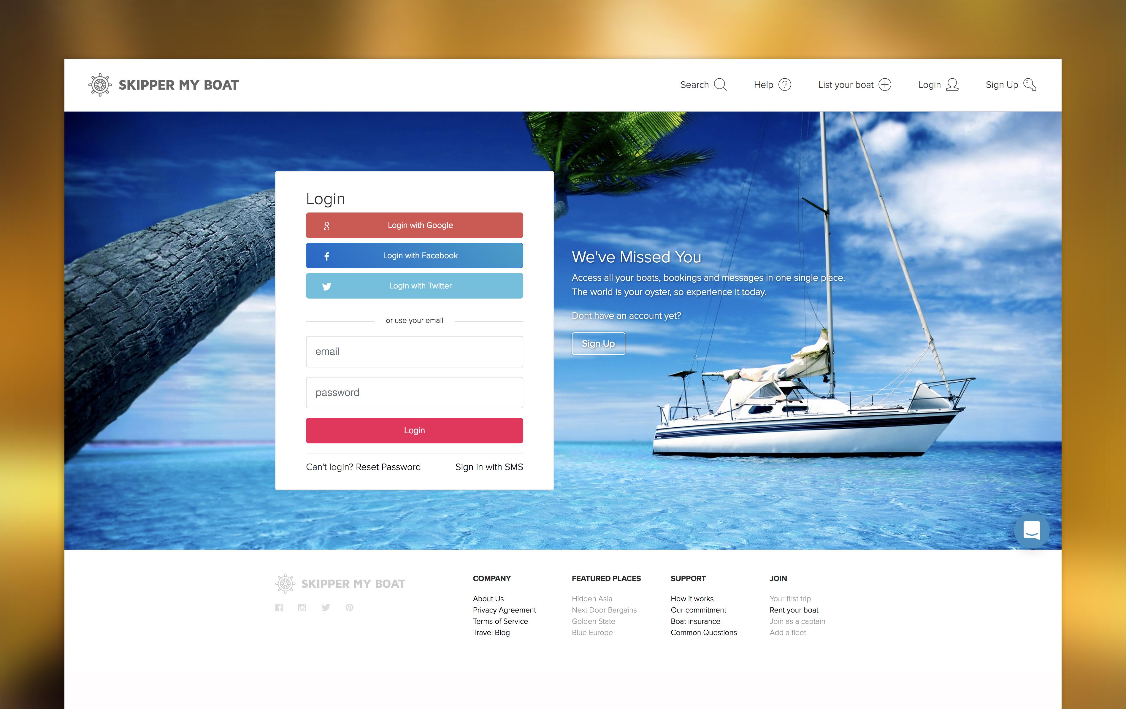 Skipper My Boat Platform