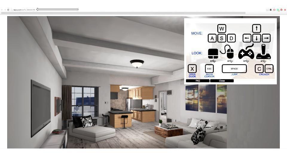 Virtual Xperience - Online 3D Interative Walk-Through