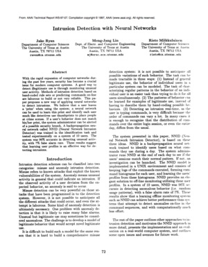 research papers on intrusion detection system Nonself discrimination in intrusion detection system  a research group in new mexico university and proposed the immune negative selection algorithm in 1994.
