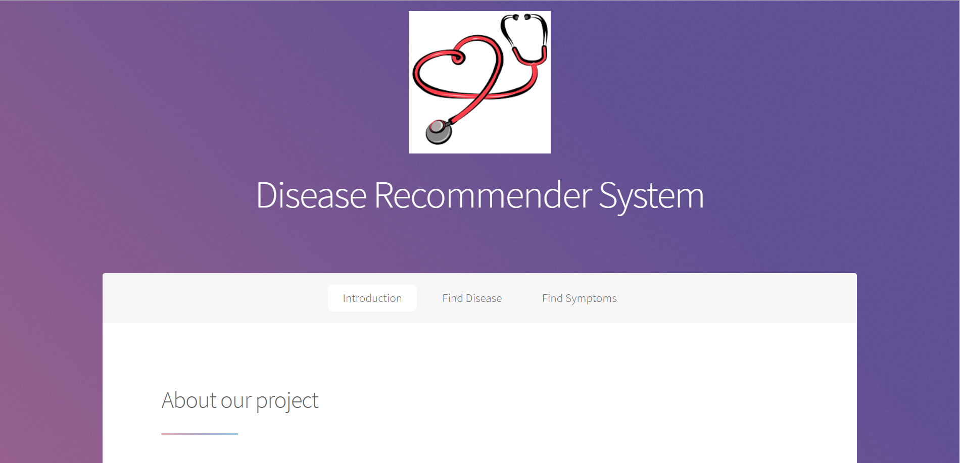 Knowledge-Based Disease Recommender System | AngelList