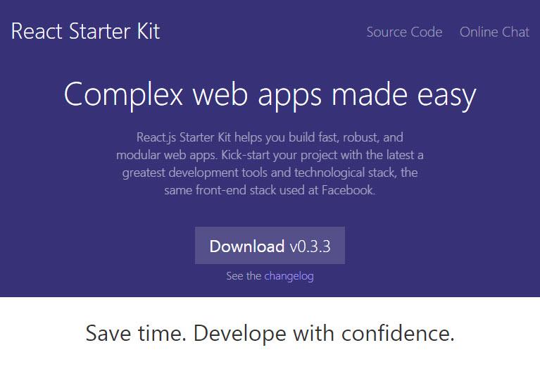 React Starter Kit Landing Page