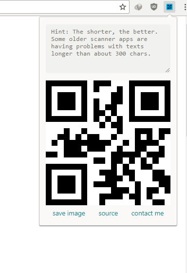 ScanBarcode & QR code App and QR code generator extension:
