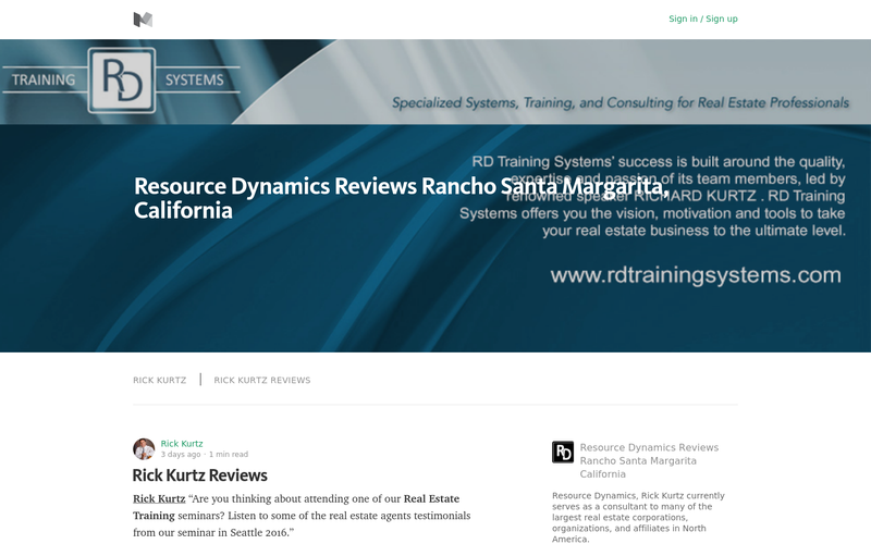 Rick Kurtz | Resource Dynamics Reviews Rancho Santa Margarita, California