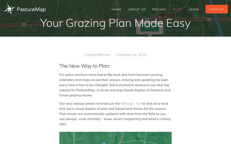 Herd Grazing Planning On A Map
